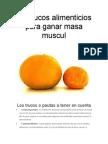 10 Trucos Alimenticios Para Ganar Masa Muscul