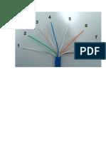 REDE Sequencia Dos Cabos de Fio Trançados Rj 45 Modelo A