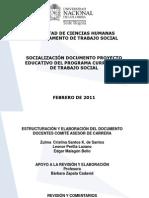 Proyecto Pregrado Programa Curricular Trabajo Social Universidad Nacional