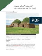 Declaran a Putucos Patrimonio Cultural Del Peru