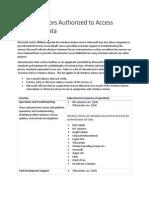 Windows Intune Subcontractor List