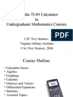 TI-89 Manual With Solutions