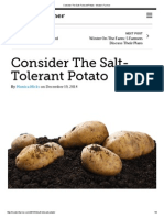Consider the Salt-Tolerant Potato