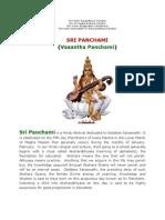 Sri Panchami (Vasantha Panchami)