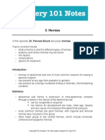 3. Notes Hernias