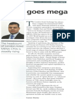 Editor's Note, CFO World, September 2013 Issue by Gaurav Sharma