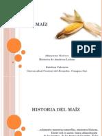 Conferencia sobre El Maíz, su historia, orígen, producción y consumo en América.