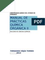 Manual de Prácticas de Quim. Orgánica II