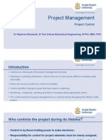 Project Management (Project Control Concept)