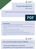 Project Management (Project Control Concept)