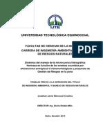 Dinámica de La Microcuenca Hidrográfica Horinaza y Propuesta de GdR en La Zona - Jonathan Menoscal REVISADAf