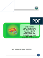 Lineamientos Para Proveedores Segundo Uniforme Escolar 2011