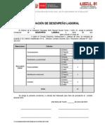 Constancia de Evaluación de Desempeño Laboral 2015