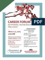 2015 career forum flyer