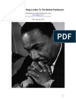 Martin Luther King's Letter To The British Parliament