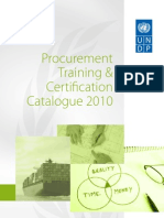 TRAININGS BY UNDP