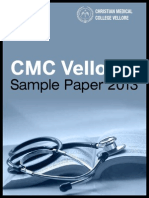 CMC Vellore Medical 2013 Last Year Question Paper