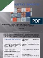 Container Logistics Sector - Tarragon Capital Advisors