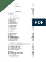 Al Mann Manuscript List With Orignal Prices