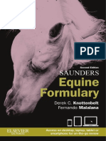 Saunders Equine Formulary - 2nd Edition