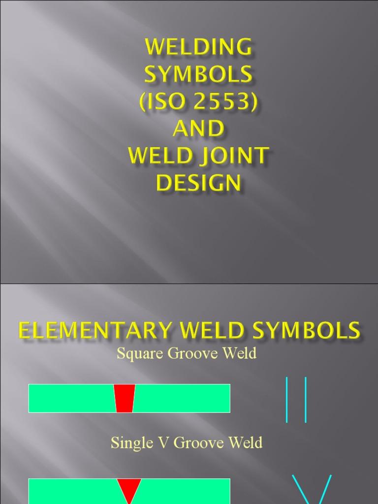 Iso 2553 Weld Symbols Welding Electric Heating