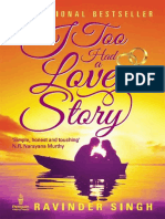 I Too Had a Love Story - Ravinder, Singh