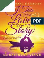 I Too Had a Love Story - Ravinder, Singh