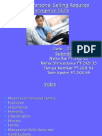 Effective Personal Selling Requires Managerial Skills