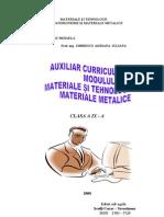 Auxiliar Curricular - Materii Prime Si Materiale - Cl. IX