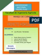 Estudio hidrológico de la cuenca jequetepeque zaña