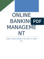 Online Banking Management