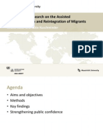Comparative Research on the Assisted Voluntary Return and Reintegration of Migrants