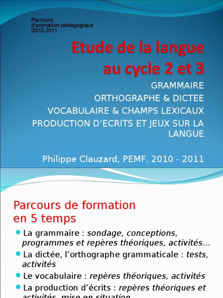 langue francaise 5e orthographe expression ecrite dictees travaux diriges