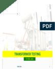 Transformer Testing