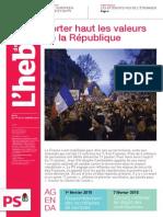 Hebdo n°761 - Porter haut les valeurs de la République