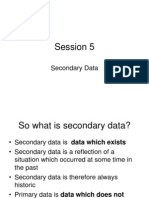 Business Research Session 5 Secondary Data