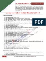 Ministers of India List 2014.pdf