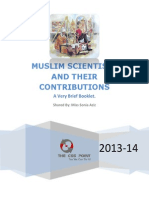 Muslim Scientists and Their Contributions (a Very Brief Booklet)