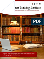 Business Training Institute Catalog
