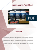 Calcium Supplements Facts Sheet