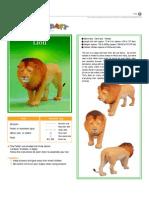 lion papercraft