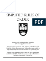 Simplified Roberts Rules of Order