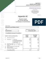 014.ASX IAW Nov 1 2007 Appendix 4C - Quarterly
