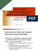 Présentation sur les réseaux de santé en périnatalité, septembre 2005, par la DHOS