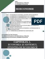 Cap 1. Economia Si Sistemul Stiintelor Economice