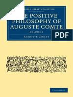 Auguste Comte - The Positive Philosophy of Auguste Comte II