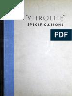 Vitrolite Specifications, 193X