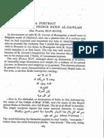 A portrait of the Buyid prince Rukn al-Dawlah / [George C. Miles]
