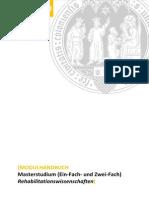 UzK HWF Modulhandbuch Rehabilitationswissenschaften 100916