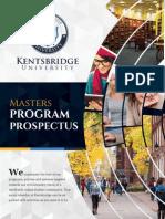 Kentsbridge University Masters Degree Prospectus